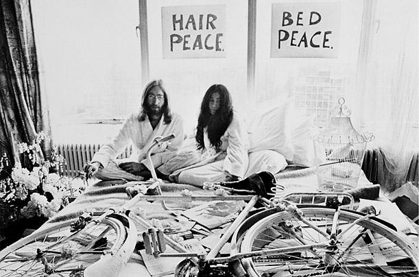 john and yoko bed in