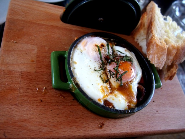 The baked eggs