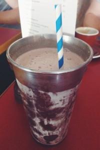 Chocolate ganache shake at Pearl Cafe.