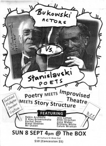 Bukowski Actors vs. Stanislavski Poets. Image by Jef Caruss.