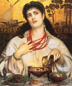 Painting of the traditional Greek goddess Medea. Image from http://en.wikipedia.org/wiki/Medea