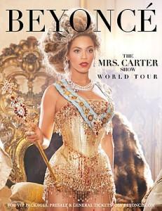 Tour Poster. Image from http://en.wikipedia.org/wiki/File:Mrs._Carter.jpg