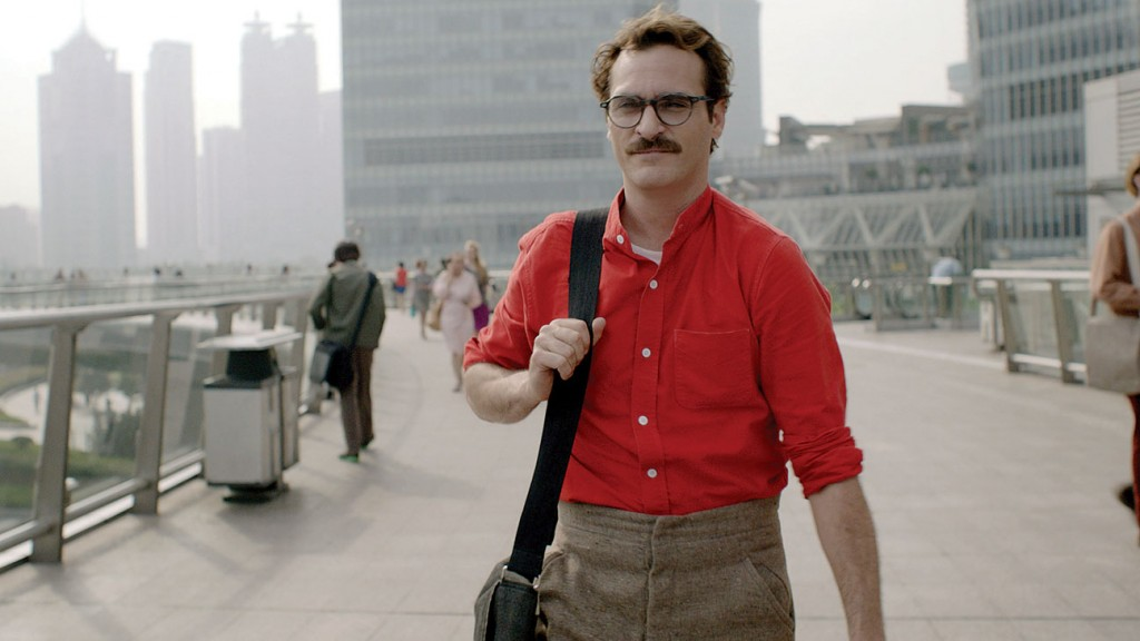 Joaquin Phoenix plays writer, Theodore, in 'Her' (Source: www.hollywoodreporter.com)
