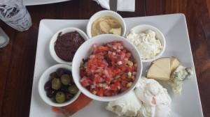 Shouk's Israeli breakfast. Taken by Gabbi