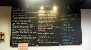 PJ's menu