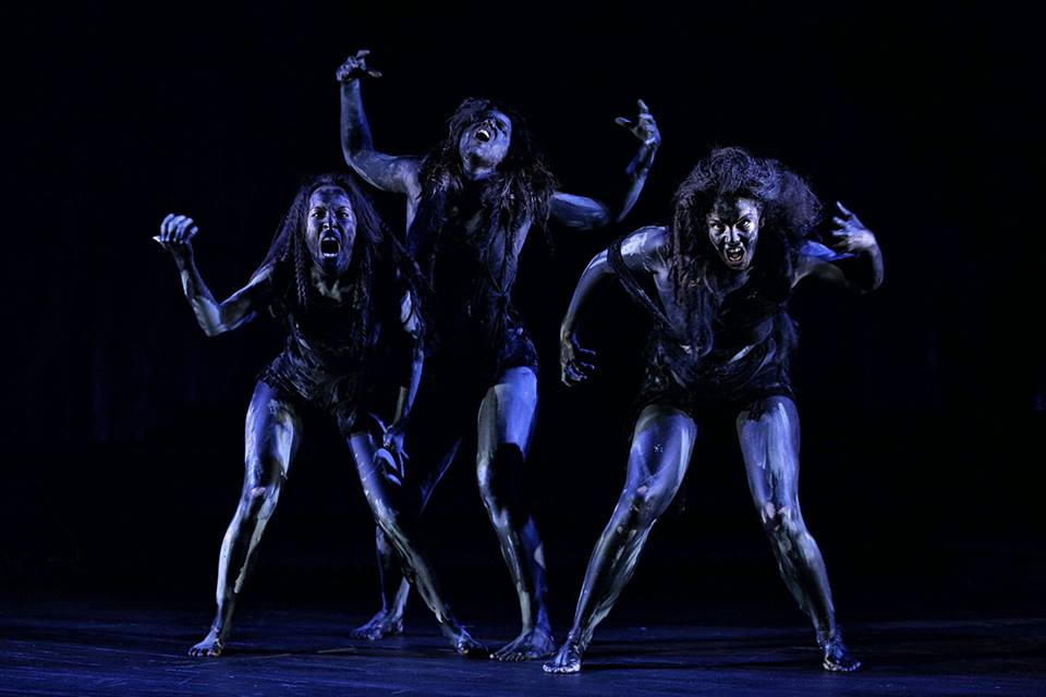 Witches in Macbeth. Photograph by Rob Maccoll.
