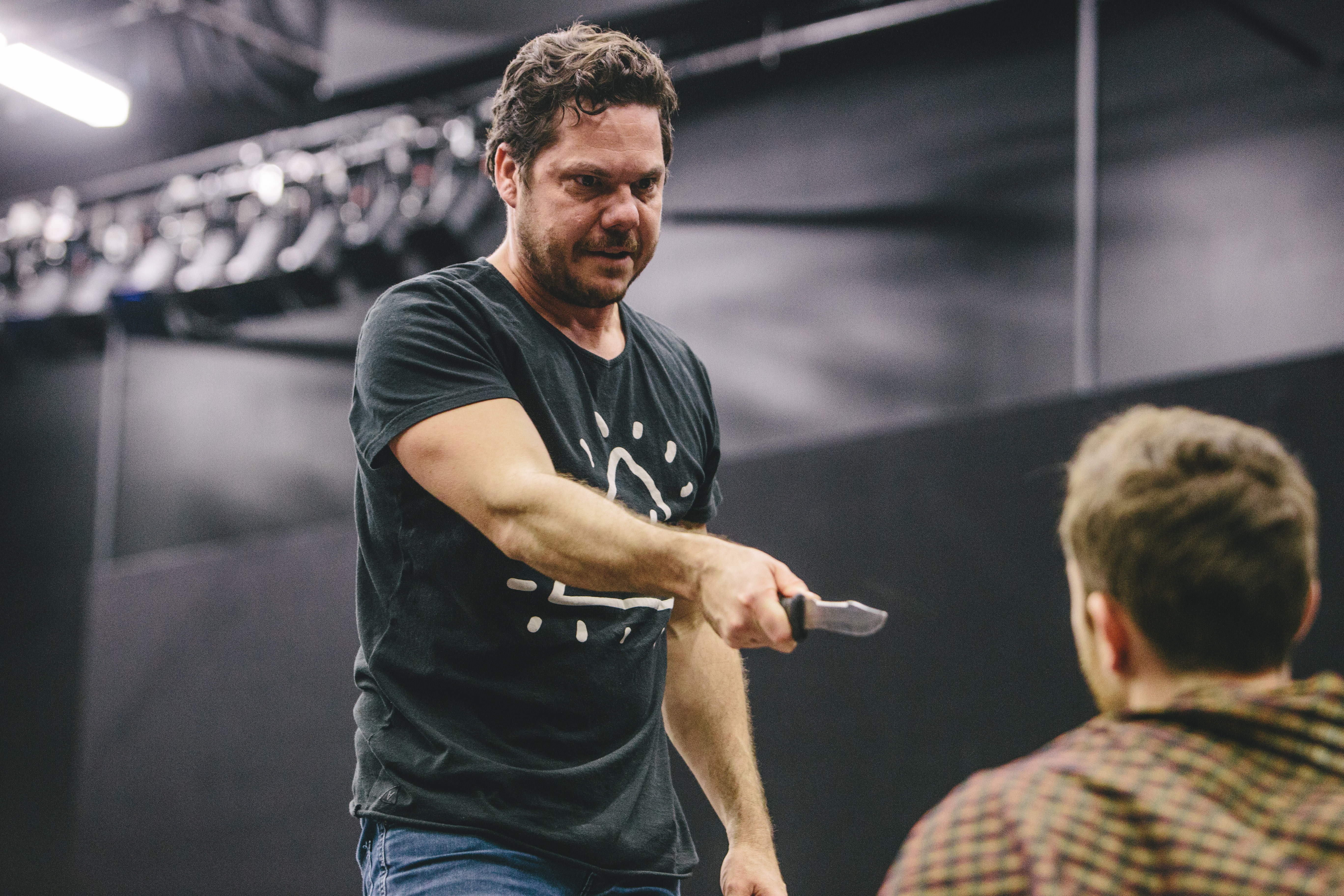 Jason Klarwein in Macbeth. Photograph provided by the Queensland Theatre Company.