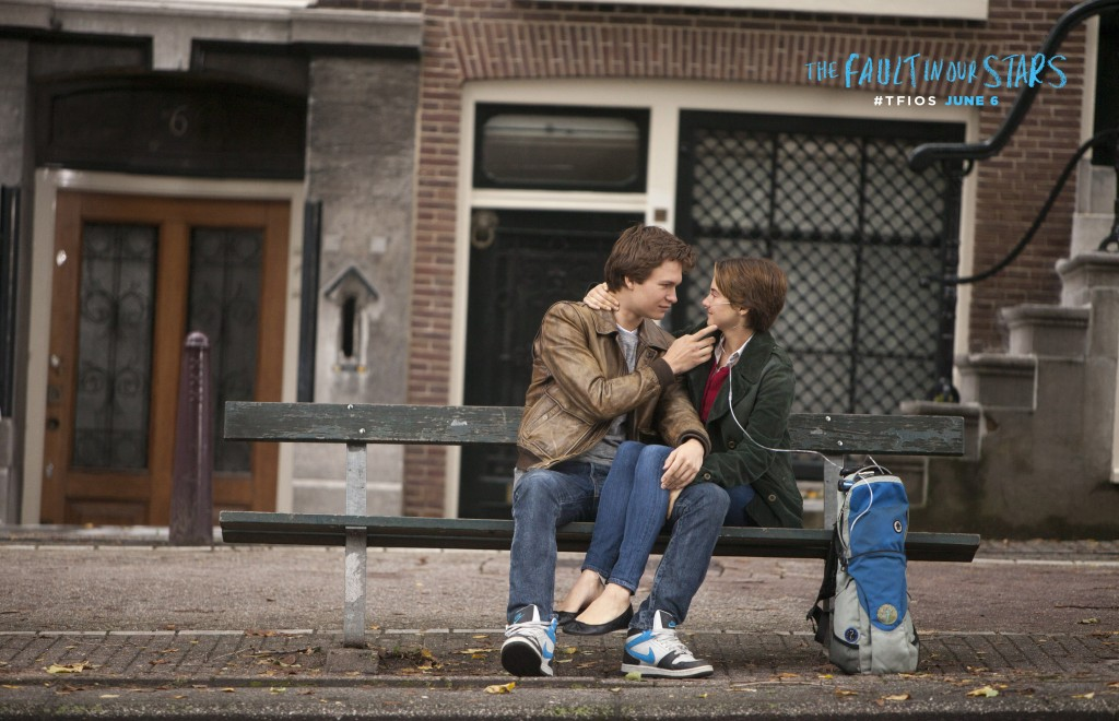 Augustus Waters and Hazel Grace, as seen in the TFiOS trailer