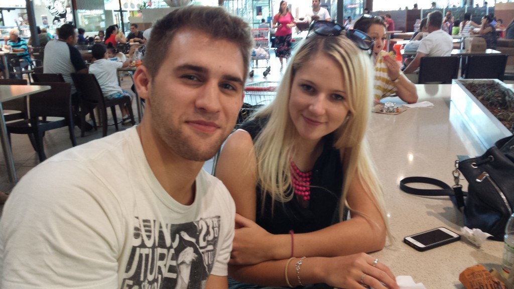 Mary-Rose, 20, and Josh, 19 hit up Maccas and Oporto for some hearty public holiday goodness.