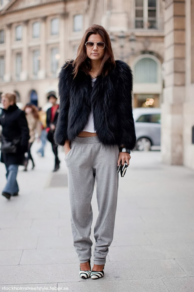 how to wear sweatpants fashion trend