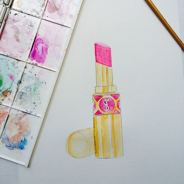 claireswilsonart YSL Lippy in progress...