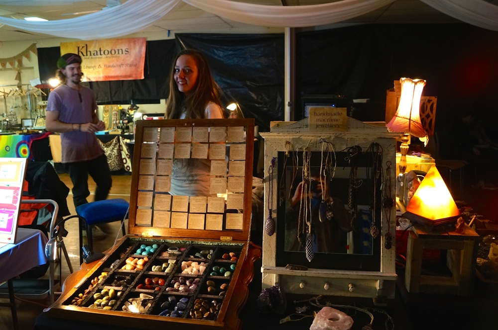 Jewellery and stones stall
