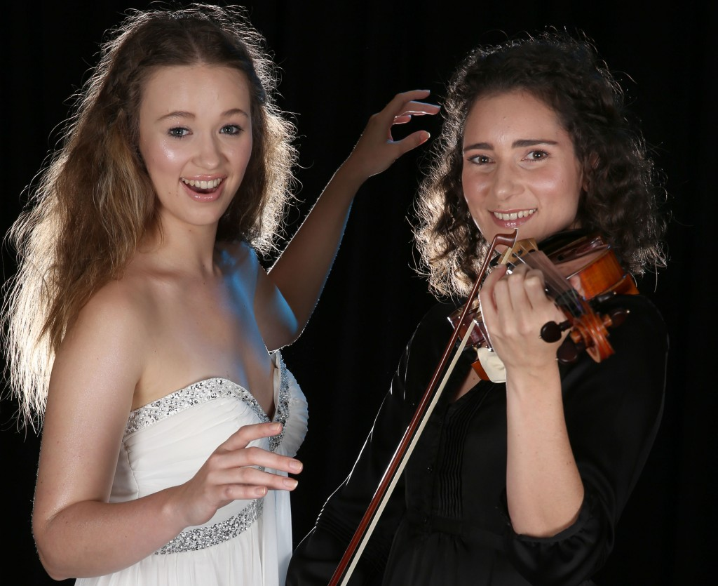 Kate Hamill from The Australian Voices with Natalie Low (QSO Violin 2)