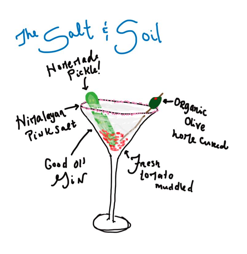 salt and soil
