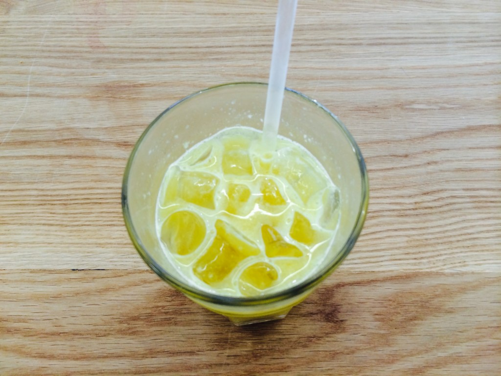 Apple, ginger and celery juice.