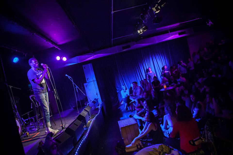 Abe Nouk preforming in Brisbane (Photo by Martin Ingle/Gawky Media)