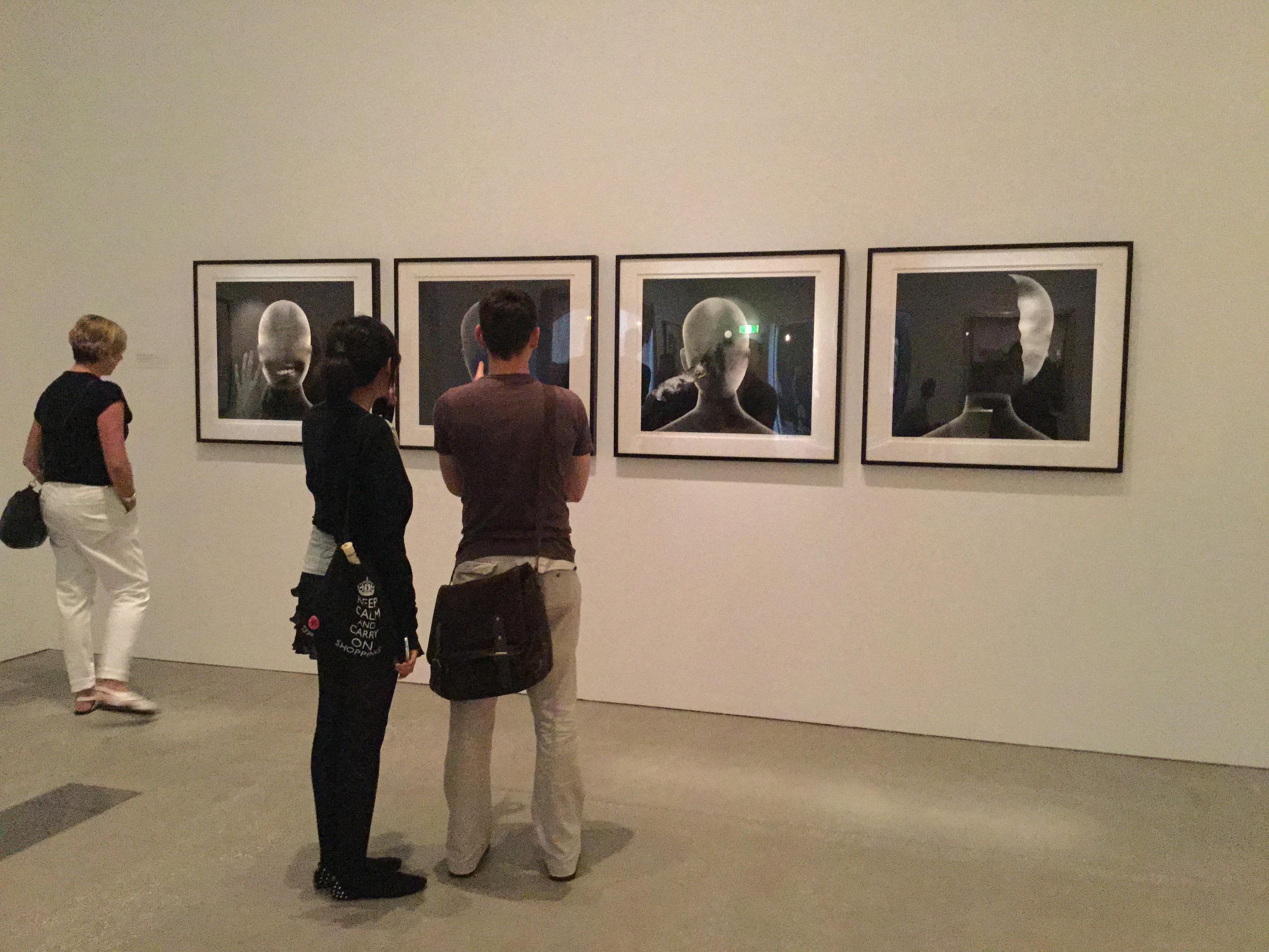 David Lynch's Head #6, #3, #2 and #15 on display at the GOMA. (Photo by Natasha Emeck)