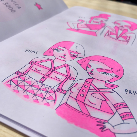'Imaginary Girl Bands' zine by Gemma Flack