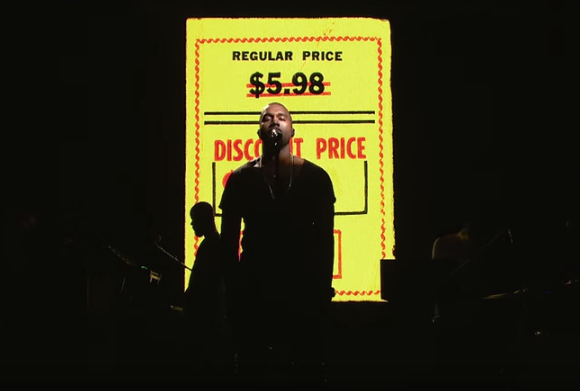 Kanye West performing New Slaves live on SNL