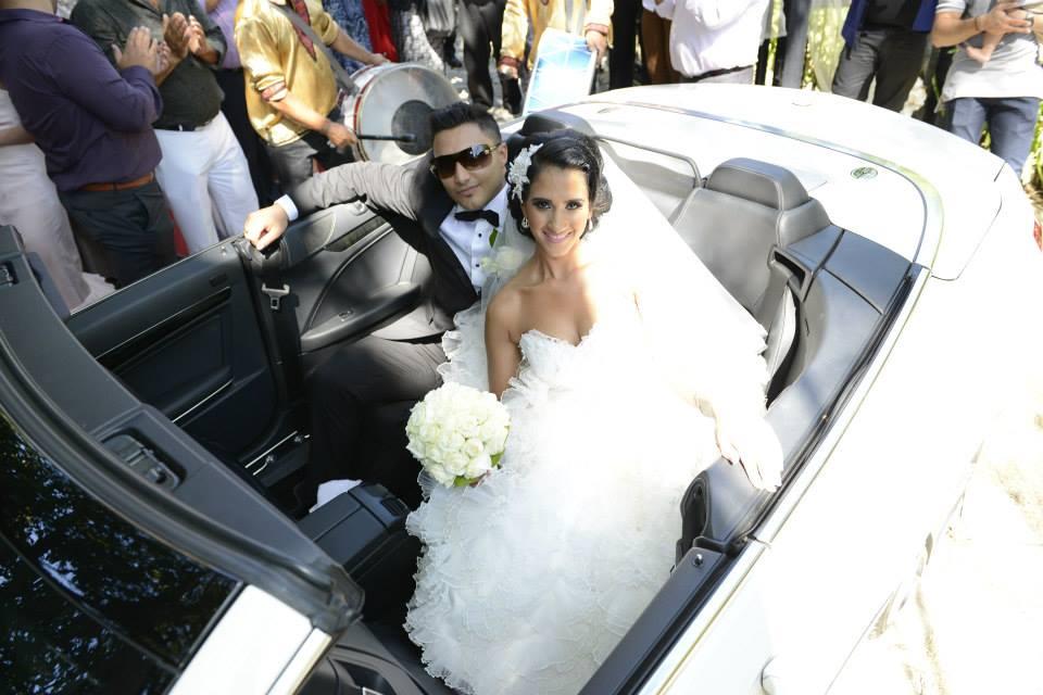 Alex and Nouf wedding day